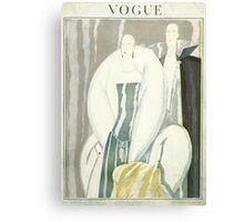 Vogue Cover 1921 Fur Coat Canvas Print