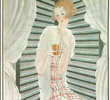 Vogue Cover 1922 Lady Sipping Drink by Vintageprints53