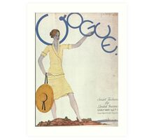 Vogue Cover 1927 Sun Hat Art Print