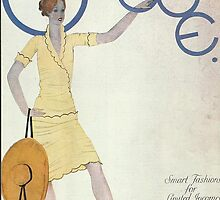 Vogue Cover 1927 Sun Hat by Vintageprints53