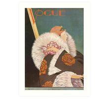 Vogue Cover Fur Coat Art Print