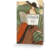 Vogue Cover 1912 Dress Material Greeting Card