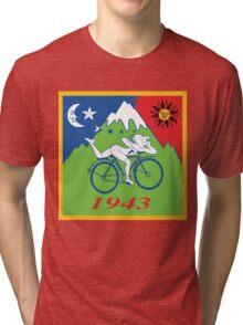 LSD Acid Hofmann Bike ride Blotter Art Psychedelic Tri-blend T-Shirt