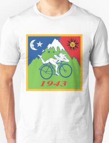Hofmann Bike ride LSD Blotter Art Psychedelic Tee T-Shirt