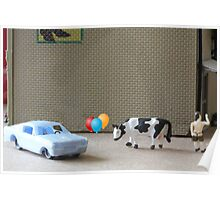 English is a difficult language!  Here are some examples of dipthongs:  car, balloon, cow, Delbert's. Poster