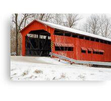 Dunbar Covered Bridge with Snow Canvas Print