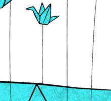 Origami Fail Whale Sticker