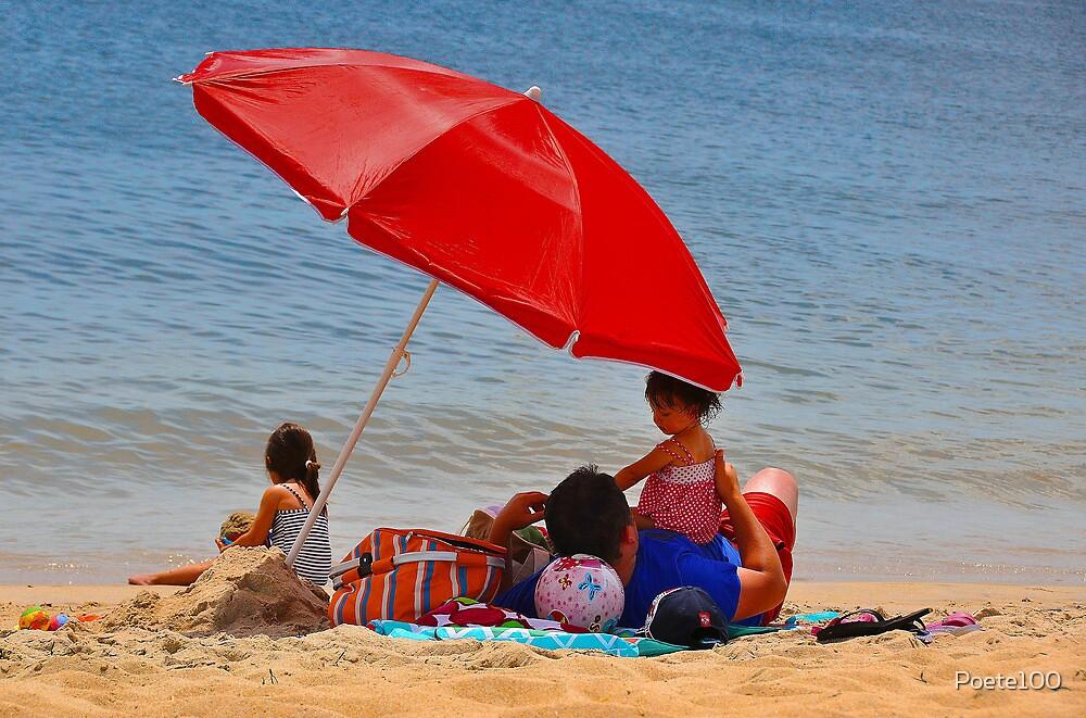 Red Umbrella....life's a beach!!! by Poete100