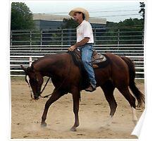 Quarter Horse Morning Workout Poster