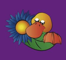 Platypus with Gerbera Daisy by jkartlife