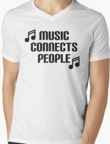 Music Connects People Mens V-Neck T-Shirt