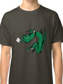 Dragon blow funny funny design comics Classic T-Shirt