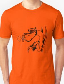 Dragon blow funny funny design comics Unisex T-Shirt