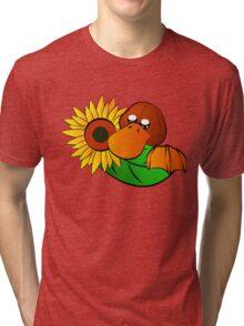 Platypus with Sunflower Tri-blend T-Shirt