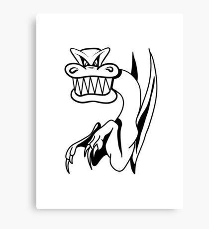 Dragon bad humor funny cool comic Canvas Print