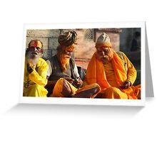 Holy Men Greeting Card