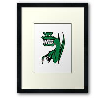 Dragon miee mood wicked funny cool comic Framed Print