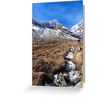 Icy Stream Greeting Card