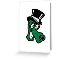 Dragon head entertainer cool comic Greeting Card