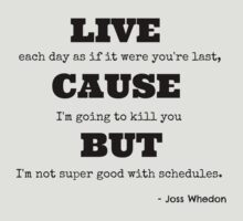 Joss Killing Schedule by jenihajas