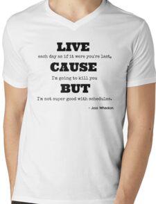 Joss Killing Schedule Mens V-Neck T-Shirt