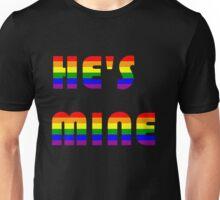 He's Mine rainbow Unisex T-Shirt