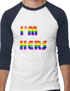 I'm Hers Rainbow Men's Baseball ¾ T-Shirt