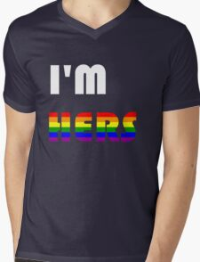 I'm Hers Rainbow Mens V-Neck T-Shirt