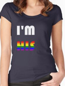 I'm His Rainbow Women's Fitted Scoop T-Shirt