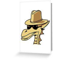 Dragon Hat sunglasses cool comic book design Greeting Card