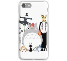 Totoro all Studio Ghibli Gang iPhone Case/Skin