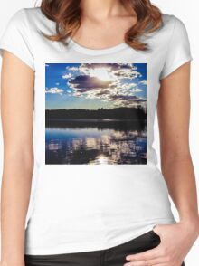 Sunny Reflection Women's Fitted Scoop T-Shirt