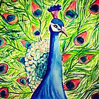 Watercolor Peacock by MadVonD