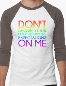 Heteronormative Expectations (rainbow) Men's Baseball ¾ T-Shirt