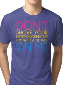 Heteronormative Expectations (pan) Tri-blend T-Shirt
