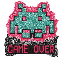 Space Invader by Pandora's  Scribbles