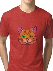 Red cat portrait Tri-blend T-Shirt
