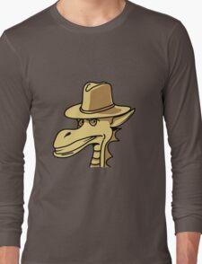 Drache Hut cool comic Design Long Sleeve T-Shirt