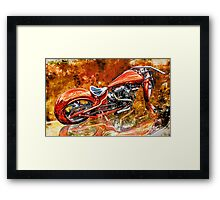 Custom Chopper Framed Print