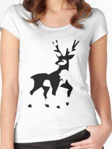 Minimalist Sawsbuck Women's Fitted Scoop T-Shirt