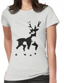 Minimalist Sawsbuck Womens Fitted T-Shirt