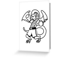 Dragon boxing sport fighting cool comic Greeting Card
