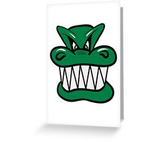 Wicked funny cool Dragon comic Greeting Card