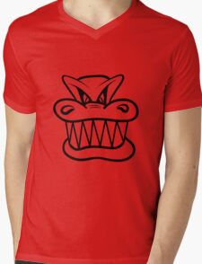 Wicked funny cool Dragon comic Mens V-Neck T-Shirt