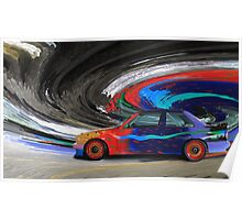 BMW M3 Art Car Poster