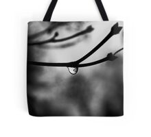 twiggy with a waterdrop Tote Bag