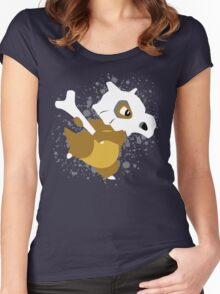 Cubone Splatter Women's Fitted Scoop T-Shirt