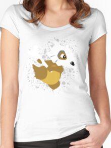 Cubone Splatter Women's Fitted Scoop T-Shirt