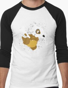 Cubone Splatter Men's Baseball ¾ T-Shirt