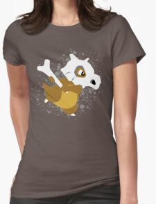 Cubone Splatter Womens Fitted T-Shirt